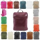 New Ladies Real Leather Casual Simple Convertible Backpack Shoulder Bag