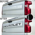 Tailgate Vinyl Decal Inserts Letters Fits Chevy Silverado 2019 2020 - Gloss