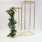 GOLD METAL FLOWER PEDESTAL STAND 2 SIZES WEDDING AISLE DECOR FLORAL DISPLAY