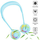Portable Rechargeable Neckband Neck Hanging Fan Hand Free Personal Mini LED Fan