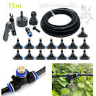 19.6FT/30FT/50FT Outdoor Misting Cooling System Garden Water Mister Nozzles Set