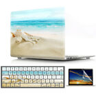 """Beach Shells Matte Hard Case Keyboard& LCD Cover for Macbook Air PRO 11"""" 13"""" 15"""""""