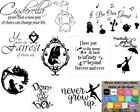 Wall Art Stickers Disney Inspired, Removable Decor, Quality Vinyl Decal Quotes
