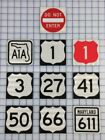 Reflective Road Sign Magnets A1A US Rt 66 1 3 27 41 50 Maryland 611 Do Not Enter