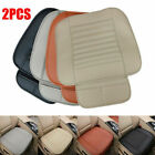 2pcs Car Seat Cover Pad Mat Breathable PU Leather Bamboo for Auto Chair Cushion