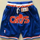 Cleveland Cavaliers Vintage Basketball Shorts NBA Men's NWT Pants Blue