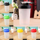 Fashion US 600ml Cup Shake Protein Blender Shaker Mixer Drink Whisk Ball Bottle