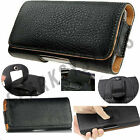 PU Leather Belt Pouch Cover Case For Huwei Phones Belt Loop Clip Case