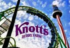 4 (FOUR) Knott's Berry Farm Theme Park e-Tickets (for Child or Adult Admission)
