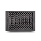 "Cast Iron Floor Register Grate 10"" x 14"" Handcrafted HVAC Floor Vent Register"