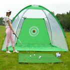 Golf Hitting Net Outdoor Sports Portable Practice Cage Indoor Garden Trainer 2M