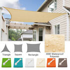 Kyпить Waterproof Sun Shade Sail UV Patio Outdoor Top Canopy Rectangle/Triangle Cover на еВаy.соm