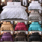 SOLID SOFT DUVET SET BEDROOM LUXURY QUILT COVER SINGLE DOUBLE KING SIZE BEDDING image