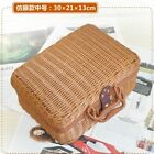 Straw Bag Rattan Suitcase Retro Handbag Outdoor Picnic Basket Bamboo Storage Box