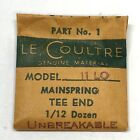 Le Coultre Watch Part: 11 LO Mainspring Tee End Unbreakable New Old Stock