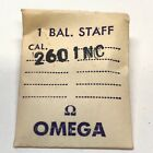 Omega Watch Balance Staff. Part: 260 1 NC. New Old Stock in package Caliber 260