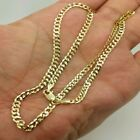 """Unisex 14K Solid Yellow Gold Cuban Chain Necklace 2.4MM 16"""" 18"""" 20"""" 22"""" 24"""" 26""""  image"""