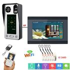 7inch Wired Wifi Fingerprint IC Card Video Door Phone Doorbell Intercom System