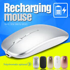 2.4GHz Rechargeable Wireless Mouse Silent Ultra Thin USB Mice for Laptop PC