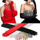 Long Gloves Satin Opera Wedding Bridal Evening Party Elbow Length Gloves 21Inch