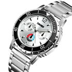 Luxury Men Stainless Steel Analog Quartz Wrist Watch Casual Sport Military Watch