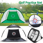 Golf Practice Net Golfer Training Aids Mat Outdoor Small Space Trainer Cage