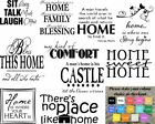 Wall Art Stickers For Family Home, Removeable Decor, Quality Vinyl Decal Quotes
