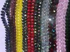 Kyпить Briollete Rondelle Crystal Glass beads 8mm, 10 Colors Approx 65 beads per string на еВаy.соm