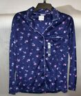 WOMENS ADONNA SLEEPWEAR BUTTON UP NIGHT SHIRT SIZE SMALL NEW WITH TAGS