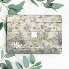 Personalized Purple Flowers Wood Girl Hard Case For Macbook Pro 13 15 Air 11 13