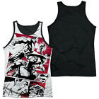 SUPERMAN ANGRY RED Licensed Men's Black Back Tank Top Sleeveless Tee SM-3XL