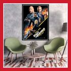 RARE TOILE AFFICHE COTON CINEMA SORTIE FILM POSTER FAST AND FURIOUS HOBBS & SHAW