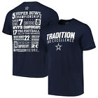 Dallas Cowboys Men's Notion Stats T-Shirt - Navy