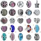Authentic 925 Sterling silver Charms European Glass Beads Pendants For Bracelets