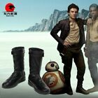 Star Wars The Last Jedi Poe Dameron Cosplay Leather Boots Shoes Customize $61.57 CAD on eBay