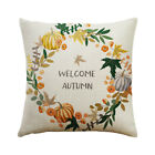 Happy Fall Thanksgiving Day Soft Linen Pillow Case Cushion Cover Home Decor Fine