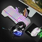 4in1 RGB Gaming Keyboard Combo For PS4 Mouse and Headset LED Backlit Wired Sets