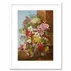 Painting Dietrich 1877 Still Life Flowers Framed Art Print 12x16 Inch