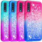 """For Samsung A50 A30S 6.4"""" Case Bling Sparkly Diamond Glitter Flowing Girls"""