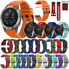 New For Garmin Fenix 6 / 6X 6X Pro Solar Soft Silicone Quick Easy Fit Watch Band image