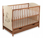 "BABY COT WITH DRAWER ""MIKI"" /BABY BED / COT FOR BABY / WALNUT COLOR + MATTRESS"