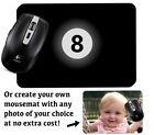 Snooker Eight Ball Computer Mousemat Mouse Mat Pad Black Magic 8 Balls Pool 127 £9.99 GBP on eBay