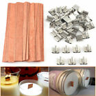 Kyпить 40Pcs Wooden Candle Wicks Core Supplies Multi Size Sustainer Making Party New на еВаy.соm