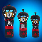 Craftsman Golf Black-Red Head Covers Head Cover Set Harley Dog Waterproof Cover