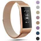 For Fitbit Charge 3 Strap Replacement Milanese Band Metal Stainless Steel Magnet image