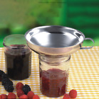 1x Stainless Steel Funnel Metal Easy Fill Jam Jar Wide Neck Kitchen Device