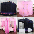 Galaxy Star Four Corner Post Bed Light Shading Curtain Canopy Mosquito Net image