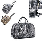 Ladies Leopard Print Weekend Bag Trolley Holdall Hand Luggage Travel Handbag