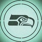 DOUBLE CIRLCE SEATTLE SEAHAWKS STENCIL SPORT FOOTBALL STENCILS $11.83 USD on eBay