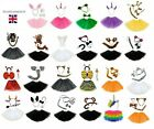 Animal Fancy Dress Tutu Costume Party Accessory Girls Ear Bow Tail Set by SOS